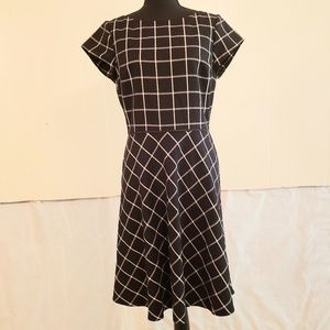 White House Black Market checkered dress